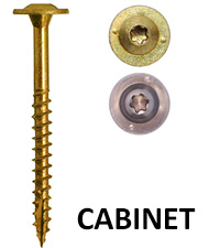 GRK Fasteners Low Profile Cabinet Screw