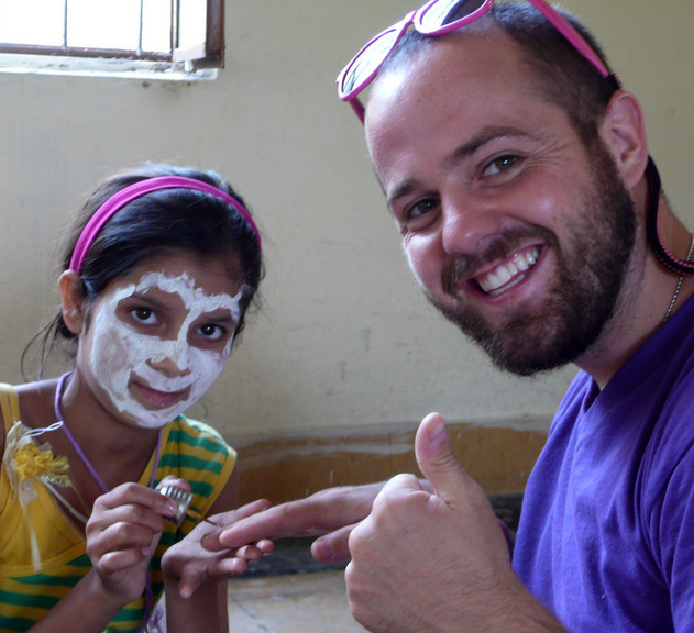 James Baird at the House of Learning in Chamba, India.2014.