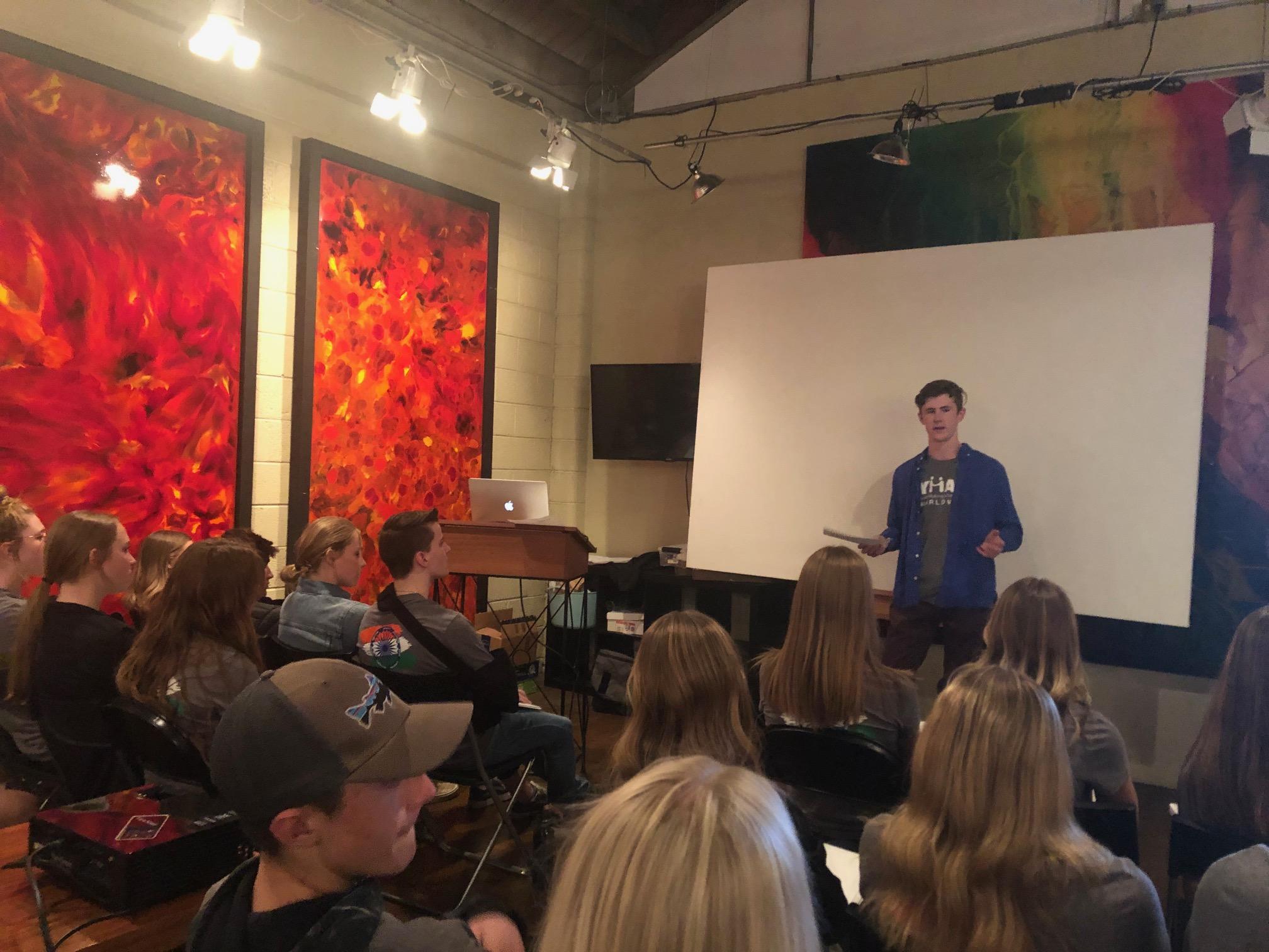 Sumner sharing his TED talk