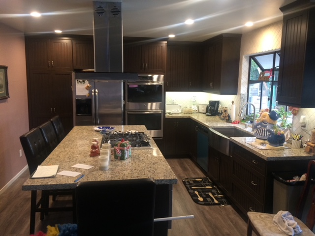 Kitchen in Los Angeles, California after complete remodel.