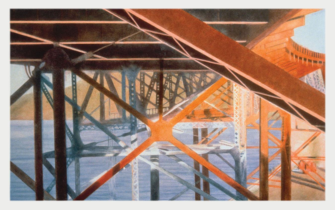 Underbelly Golden Gate Bridge  1997 monotype 19 x 31 in.