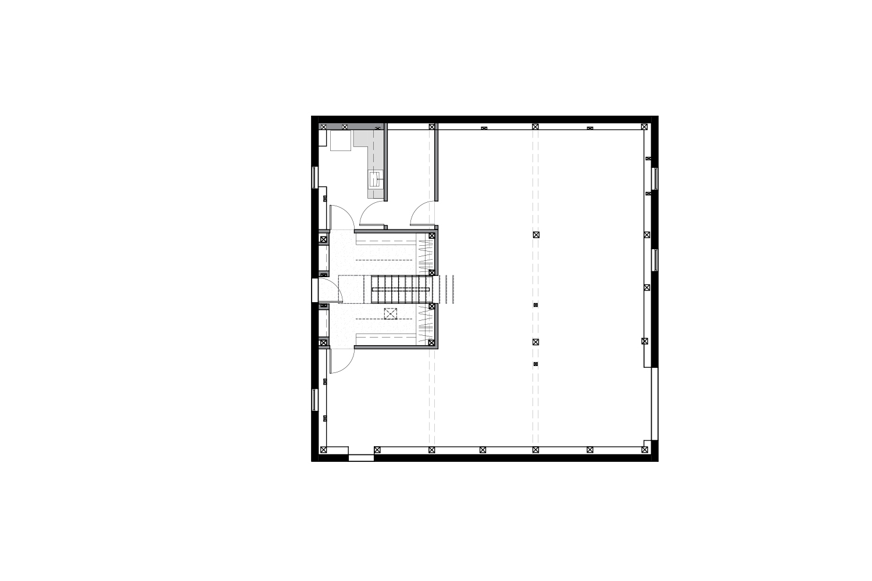 Plan of development of the basement of a chalet