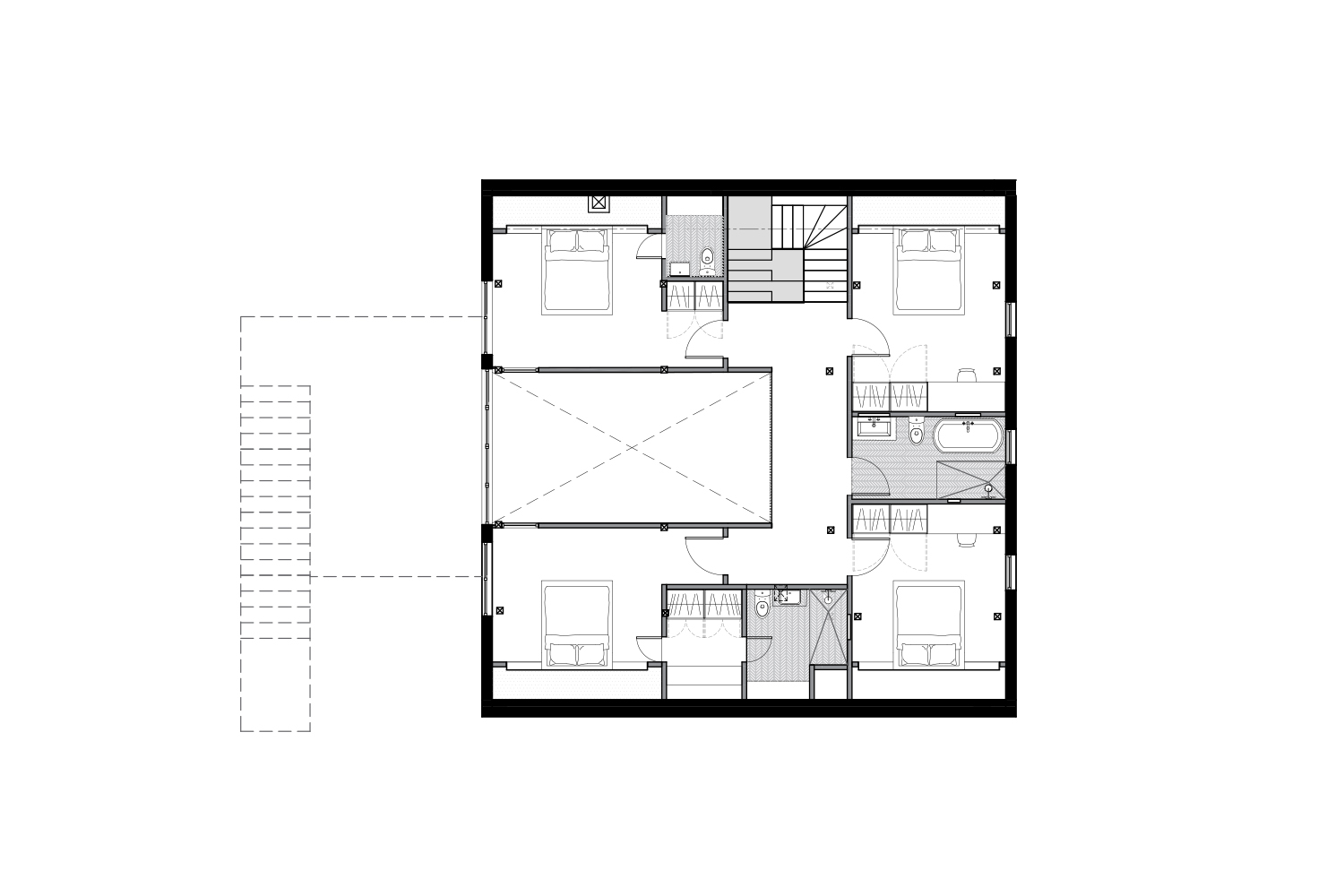 Layout plan for the cottage floor