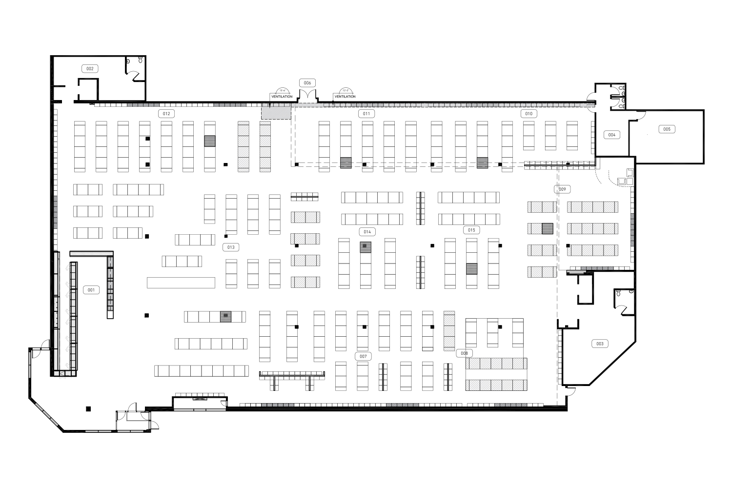 Layout of a large-scale clothing store