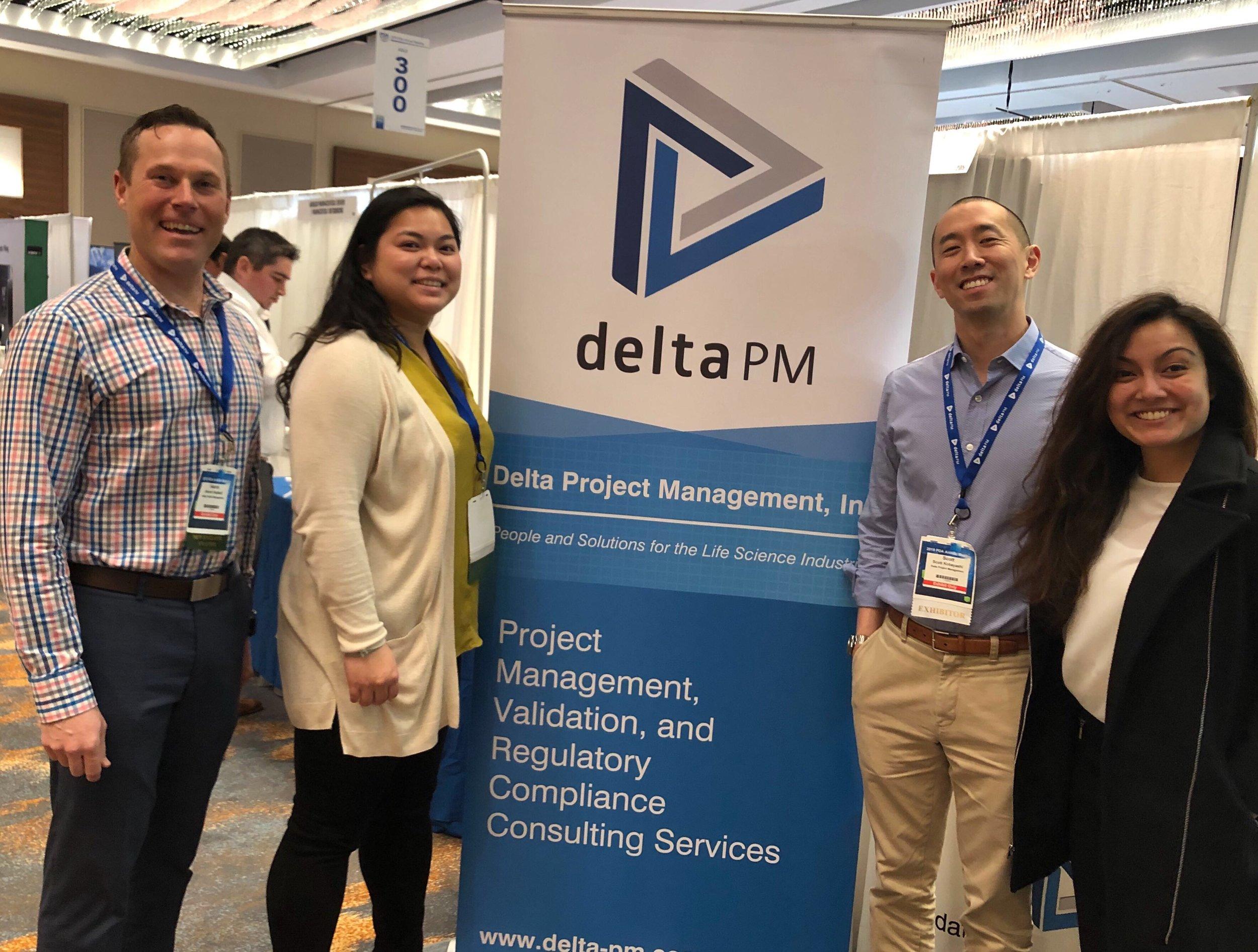 The Delta Crew: Aaron Hubbell, Stacy Pham, Scott Kobayashi, and Sumaiya Reza
