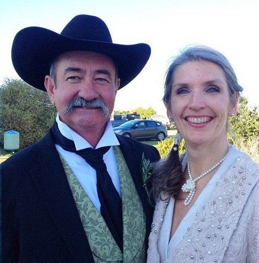 At the reception on my little ranch