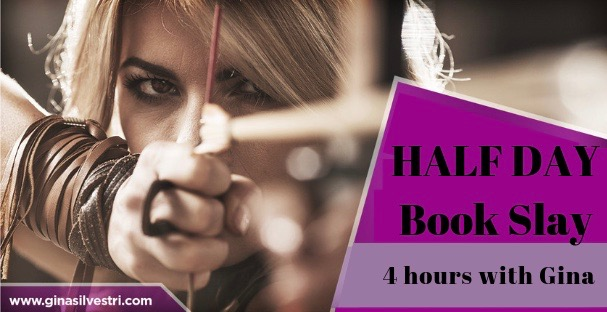 HALF DAY Book Slay Gina Silvestri book coach finish your book memoir vancouver success tell your story writing coach ghostwriter mindset writing coach book writing coach
