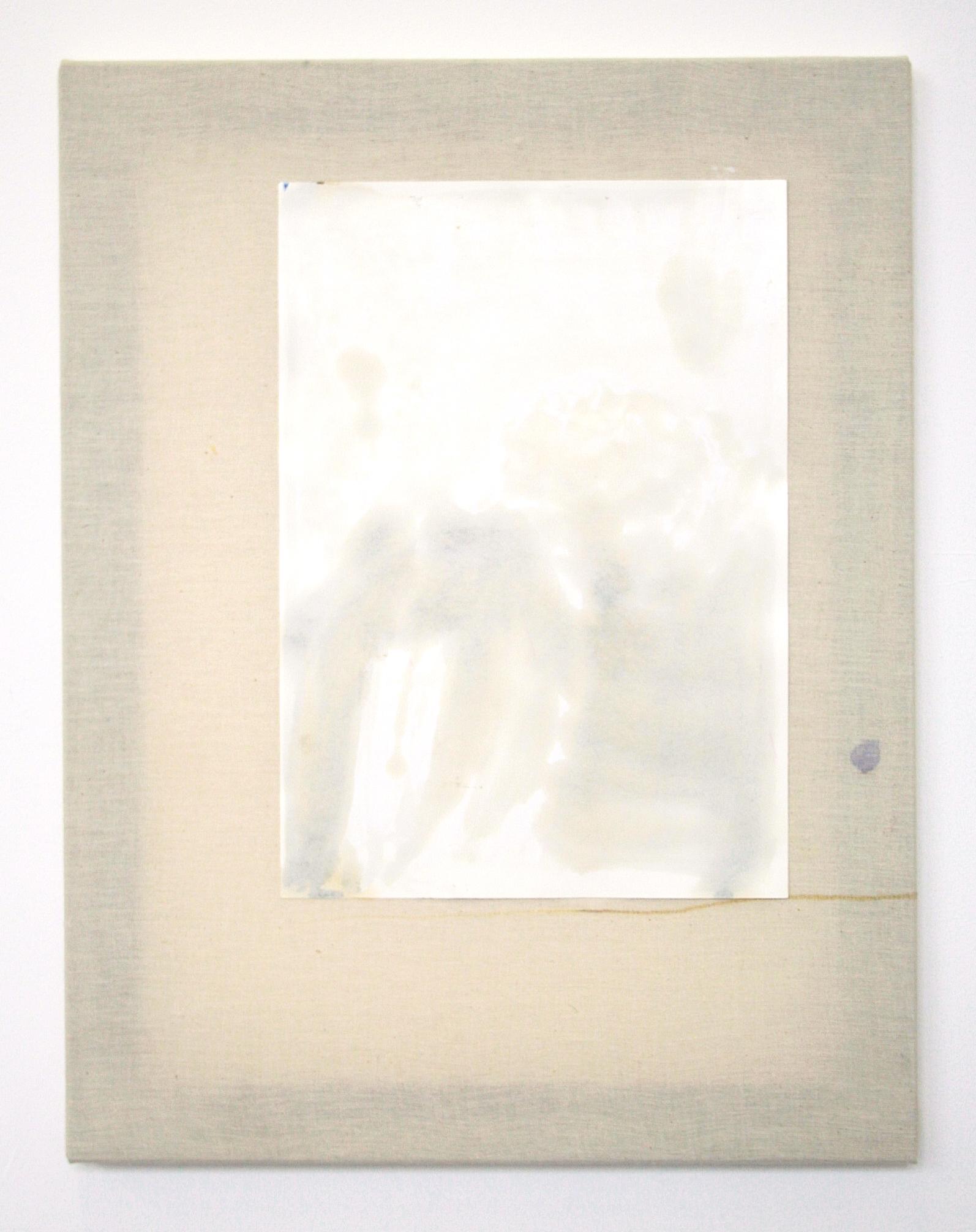 Aimée Parrott, 'Thank you, Meat' ,2015,Oil paint on paper, calico, fabric dye,46 x 36 cm