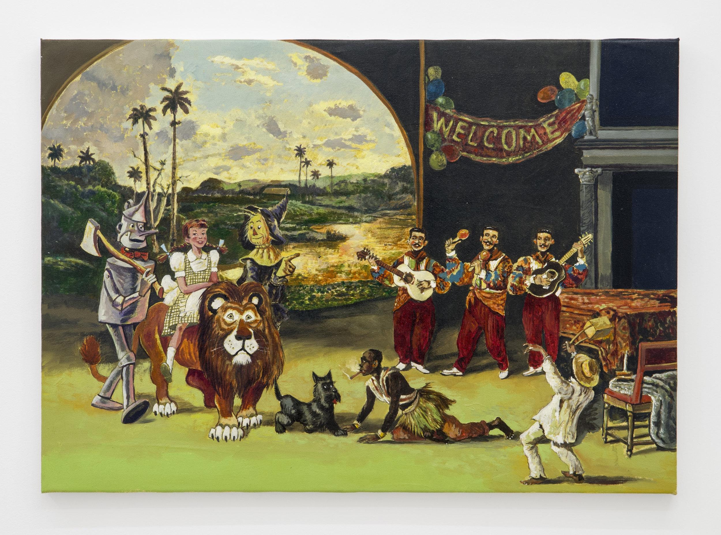 Douglas Pérez Castro, Al Final del Arcoiris ,2015,Oil on canvas,50 x 70 cm