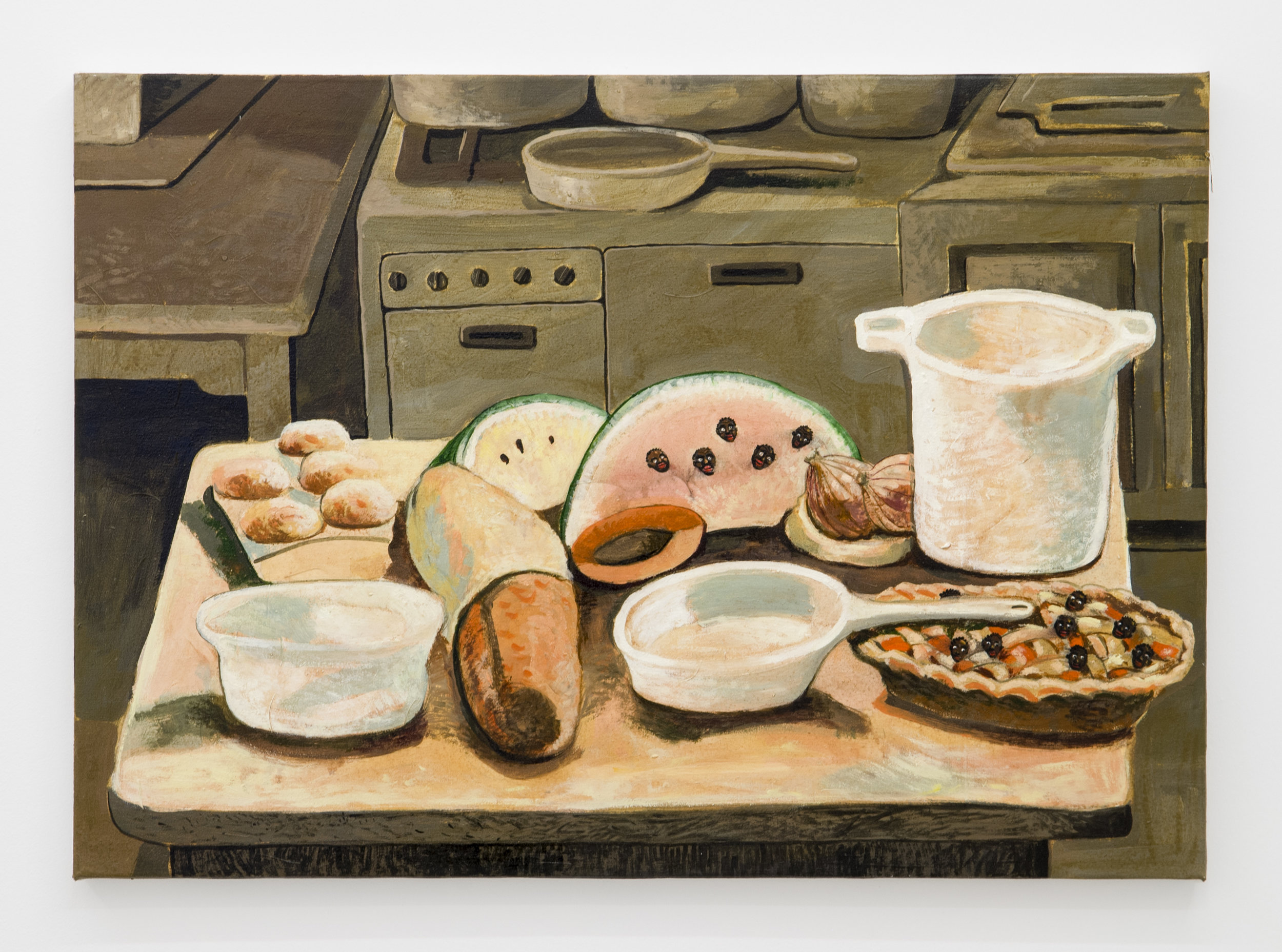Douglas Pérez Castro, Desayuno de Campeones ,2015,Oil on canvas,50 x 70 cm