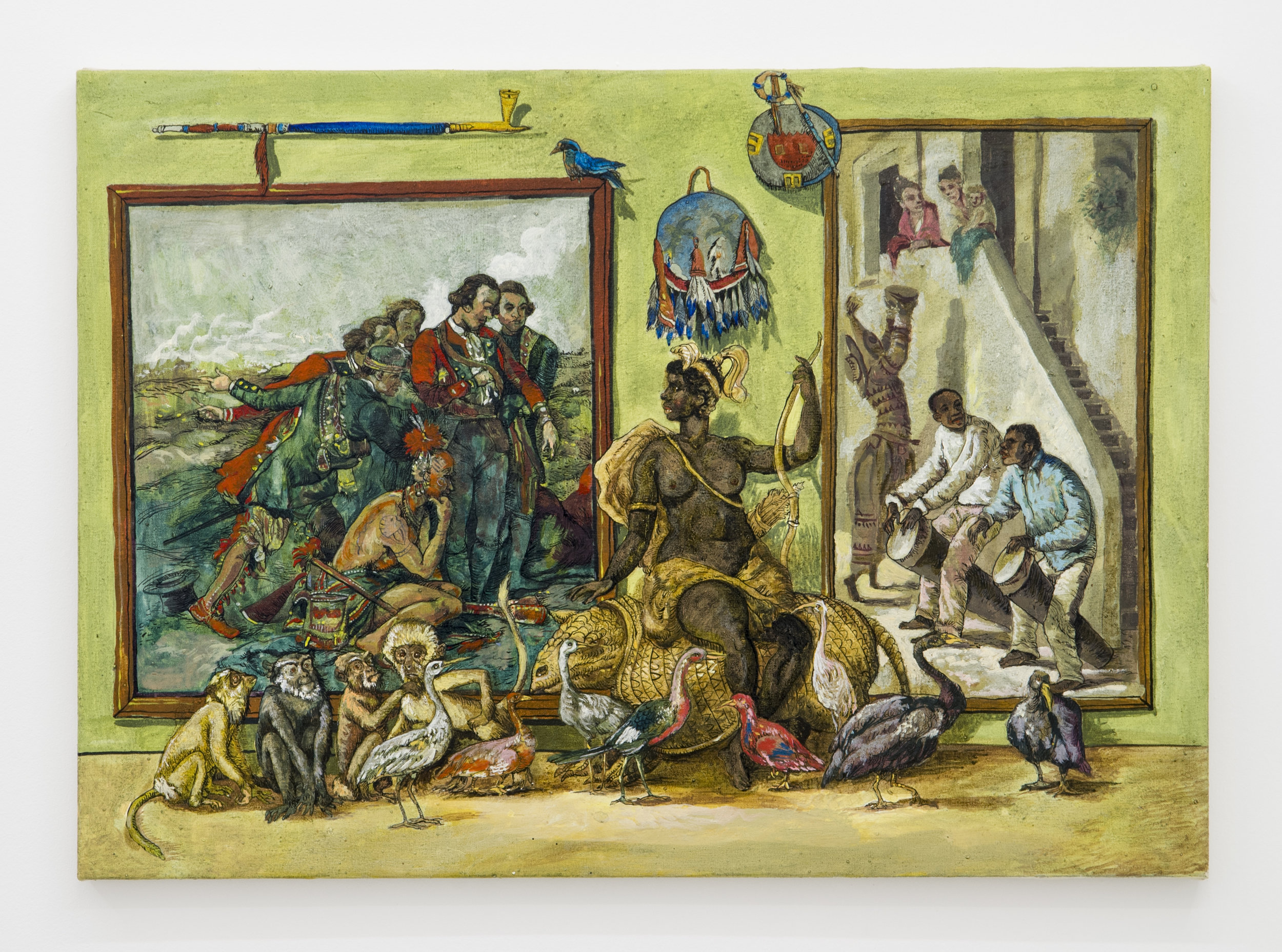 Douglas Pérez Castro, El Buen Salvaje ,2015,Oil on canvas,50 x 70 cm