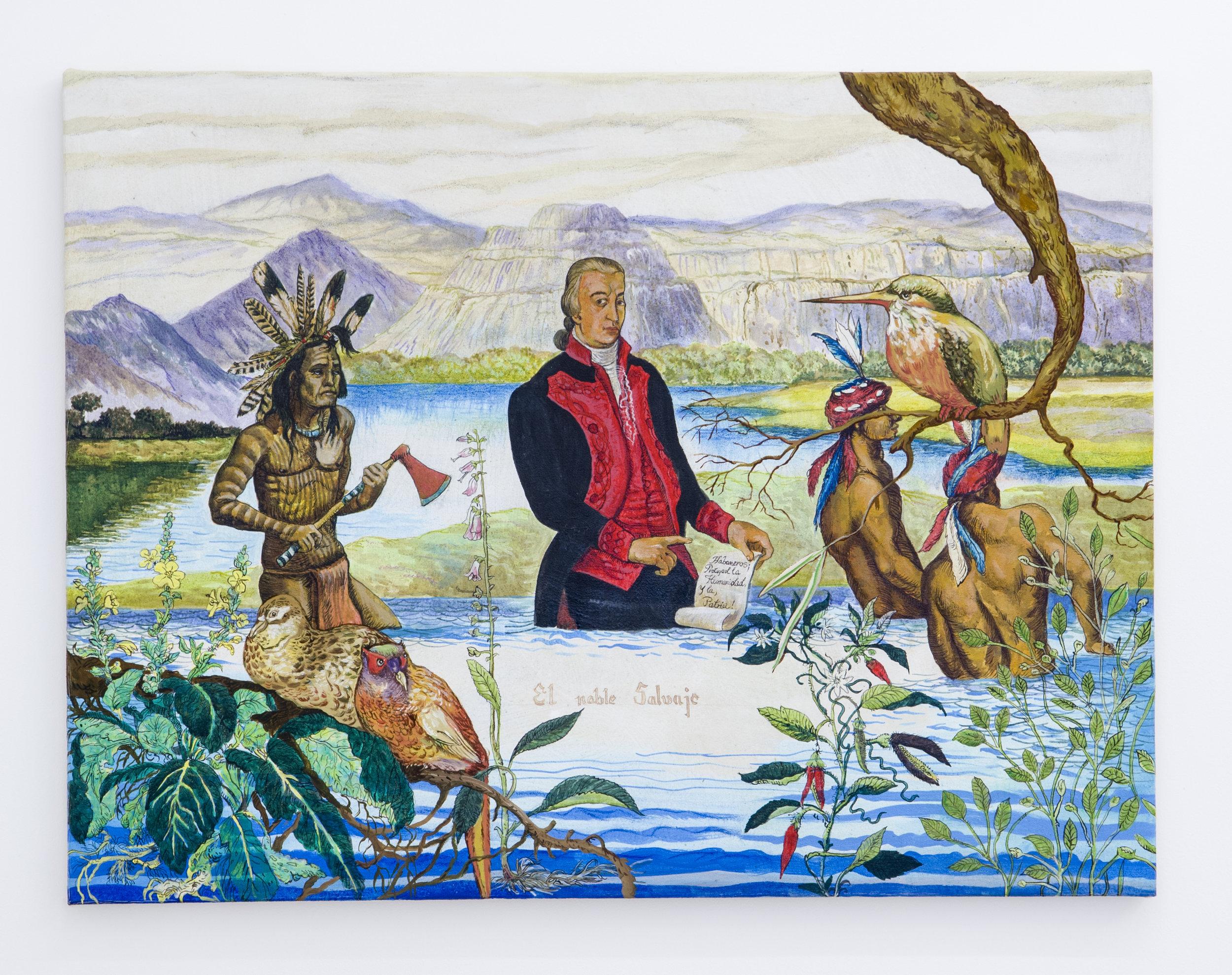 Douglas Pérez Castro, El Noble Salvaje ,2014,Oil on canvas,60 x 70 cm