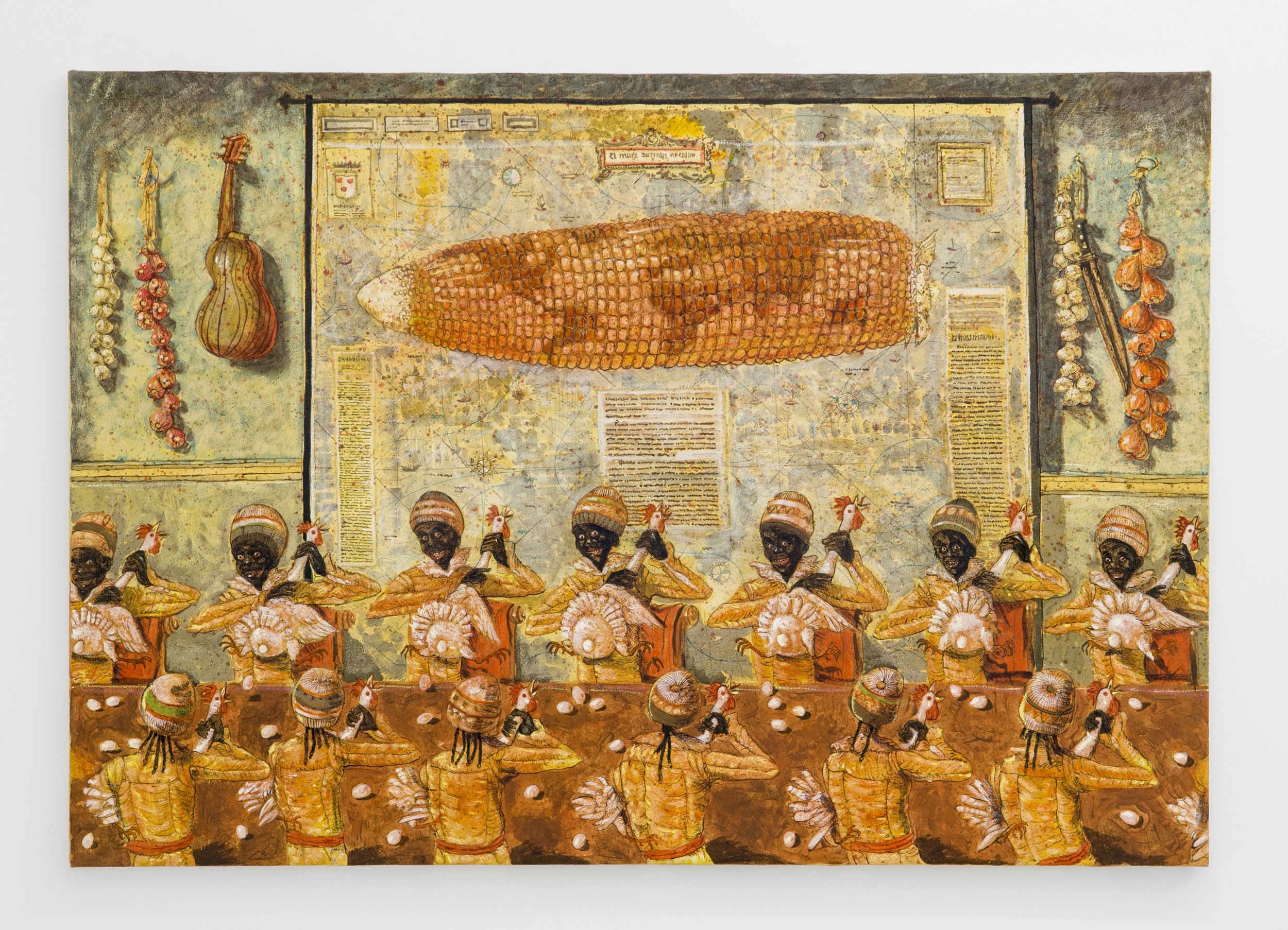 Douglas Pérez Castro, Maquila ,2014,Oil on canvas,70 x 100 cm