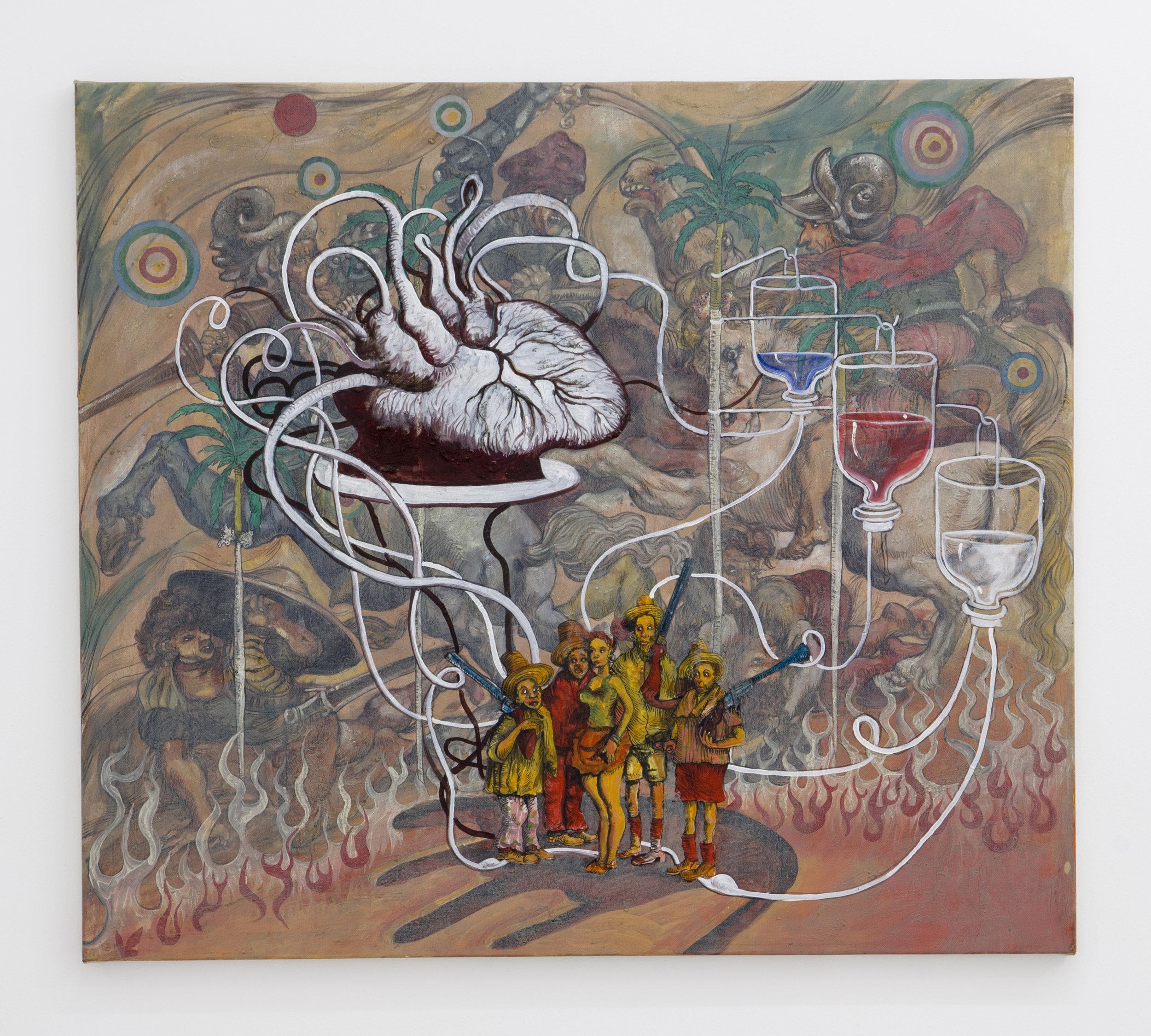 Douglas Pérez Castro, Trans ,2013,Oil on canvas,71 x 81 cm