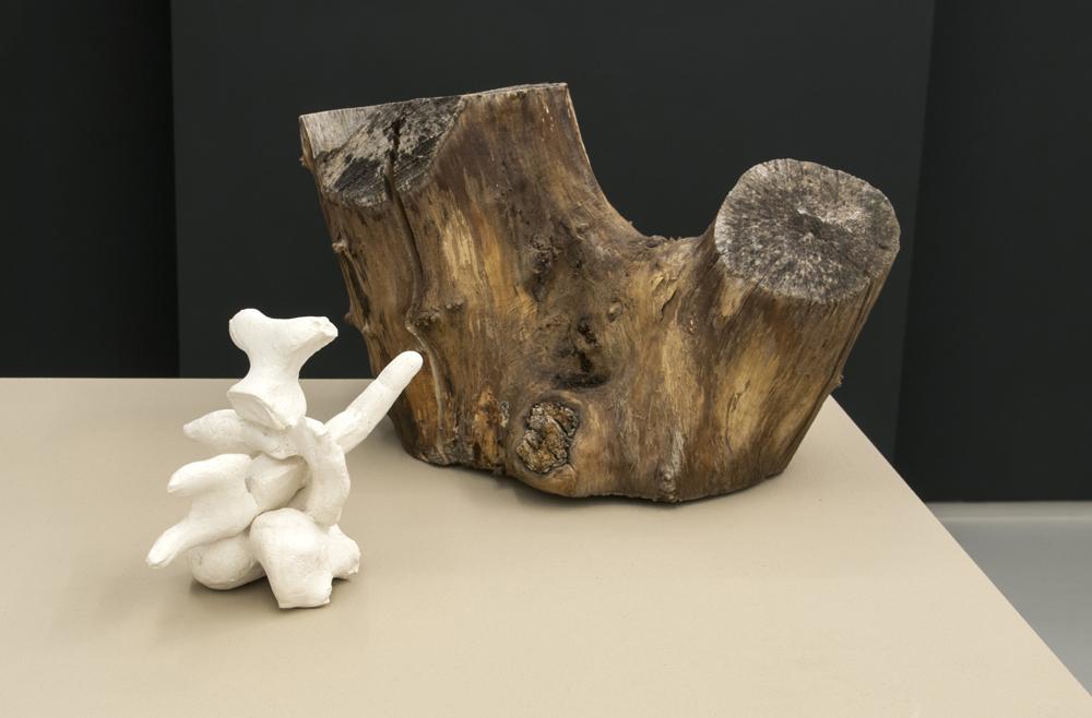 Sarah Lucas, Penetralia ,2008,Plaster, wood,20 x 46.5 x 52.5 cm,Courtesy Sadie Coles HQ, London