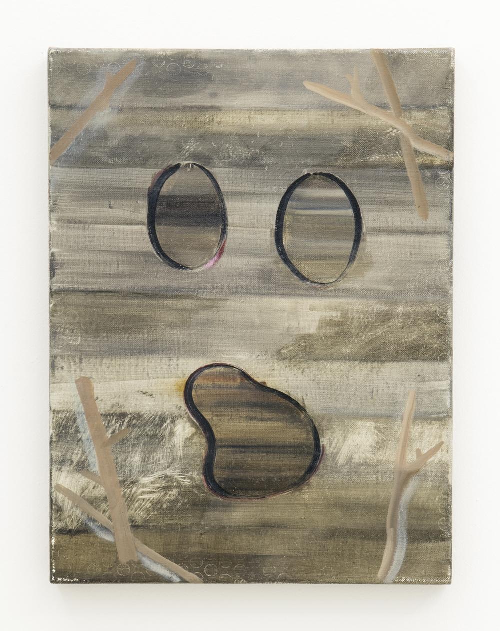 Benjamin Brett, Inside / Outside ,2013,Oil on linen,35 x 30 cm