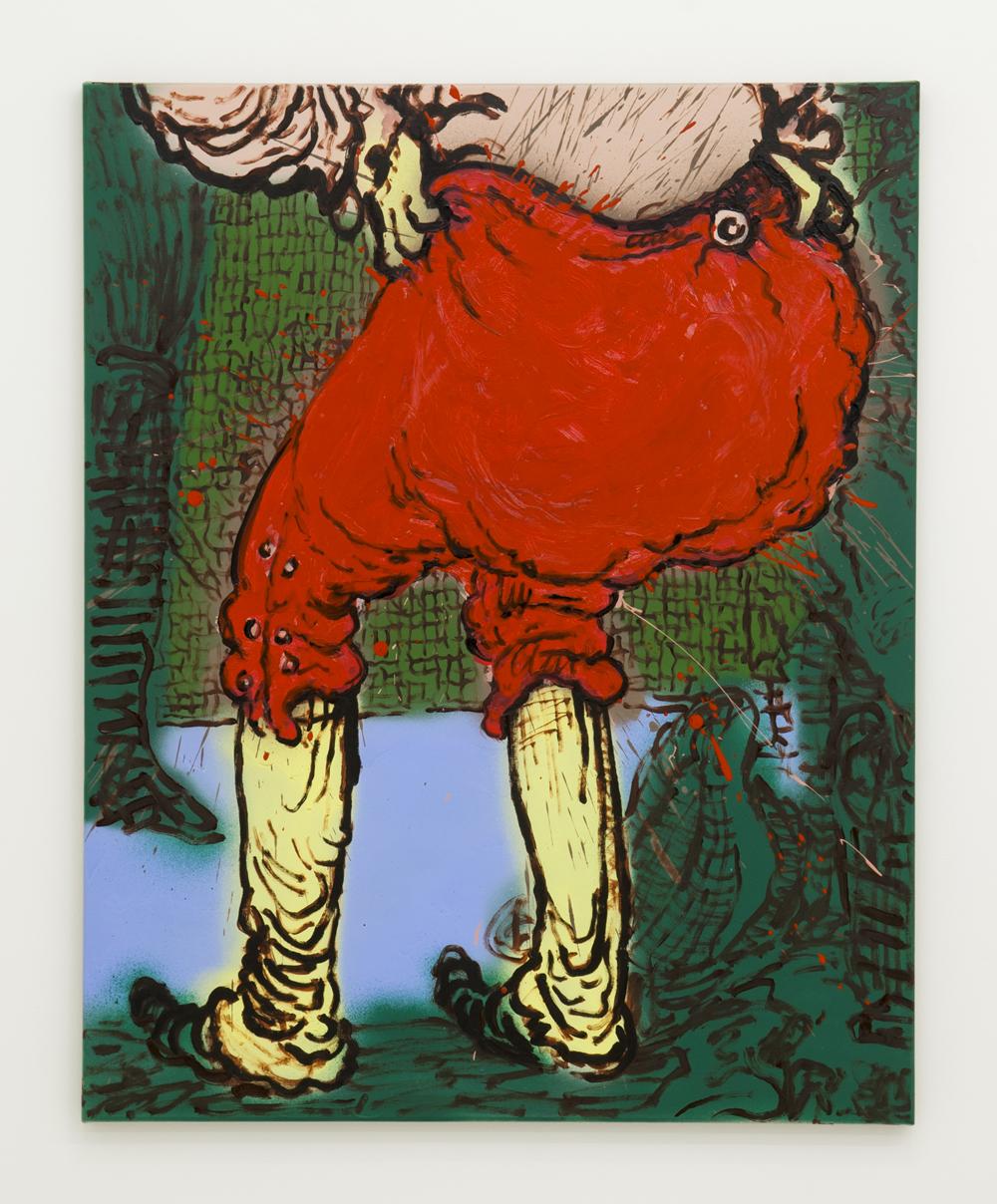 Charlie Billingham, Bum 14 ,2014,Oil and acrylic on linen,100 x 80cm