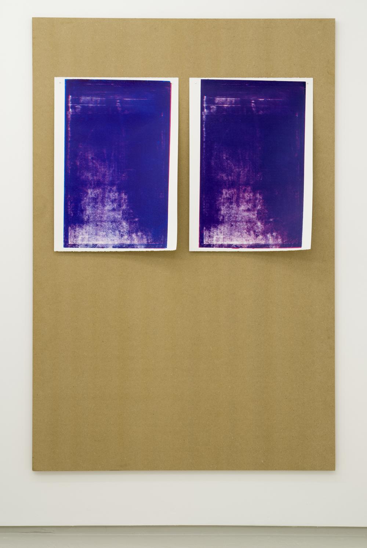 Jack Brindley, Swansong (mesh entropy) II  and  III ,2014,Acrylic on canvas,60 x 42 cm