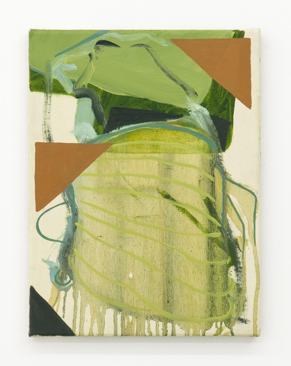 Damien Flood, Picture ,2013,Oil on half oil ground,40 x 30 cm