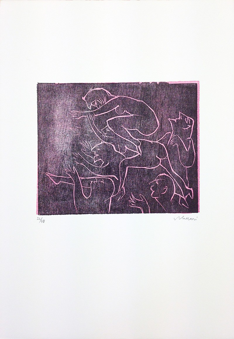 Mino Maccari,  Untitled , 1969, Print, 50.5 x 35 cm