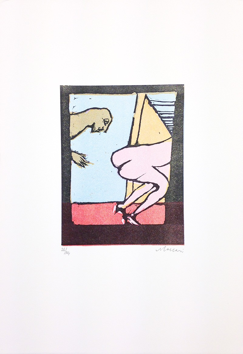 Mino Maccari,  Untitled ,1974, Print, 50.5 x 35 cm