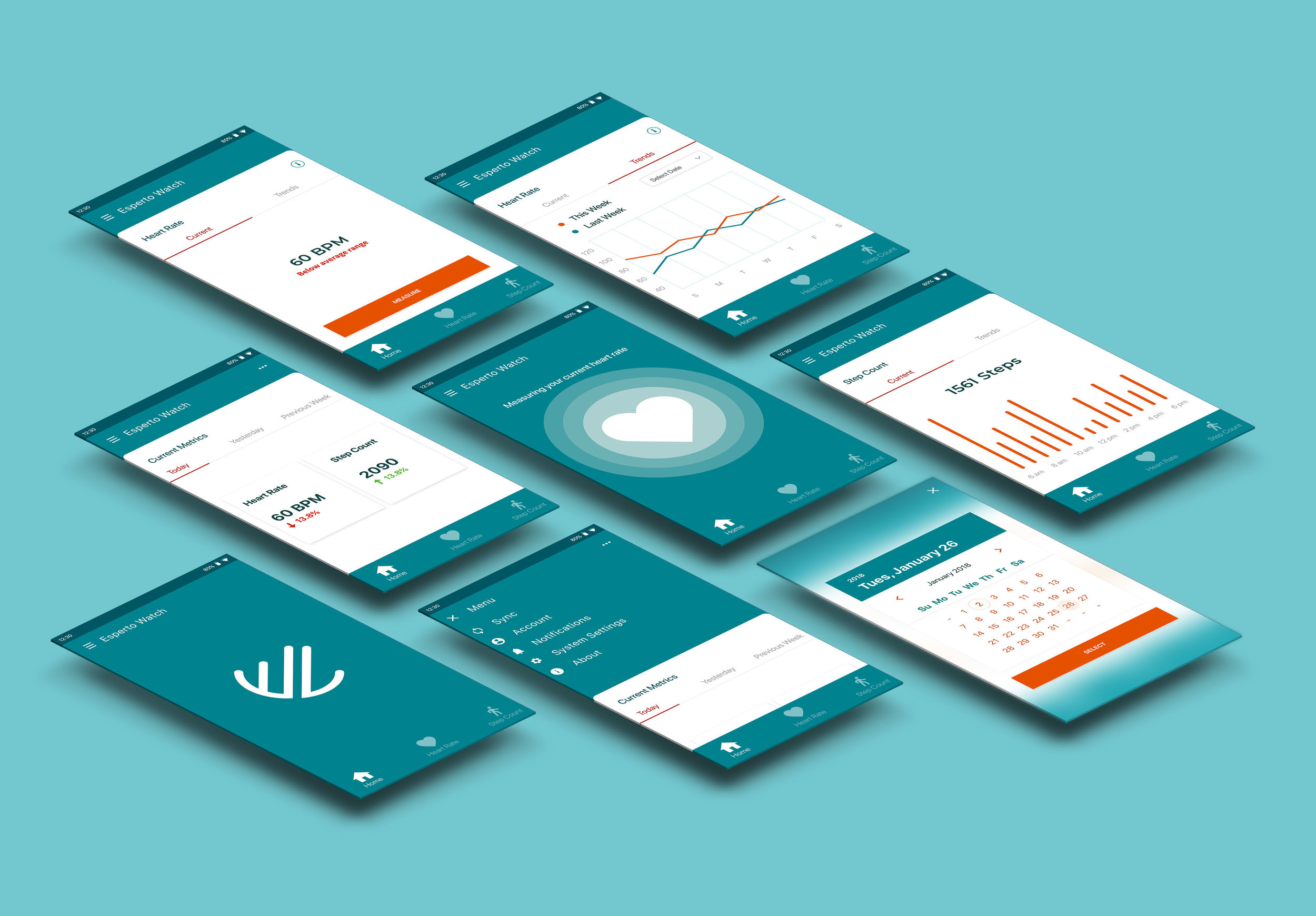 Esperto Labs Logo and UI Design