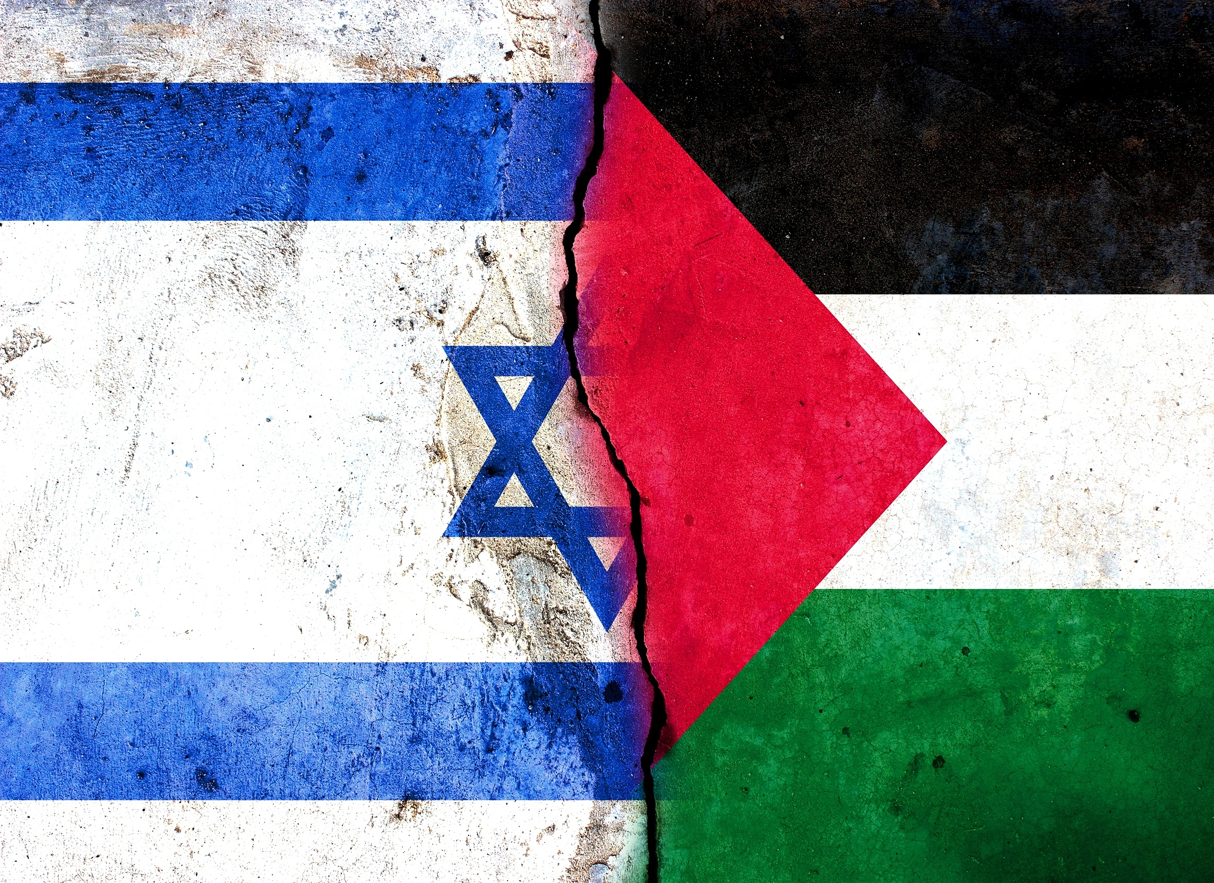 Flags of Palestine and Israel where Bethel has Global Partnership with YWCA of Palestine