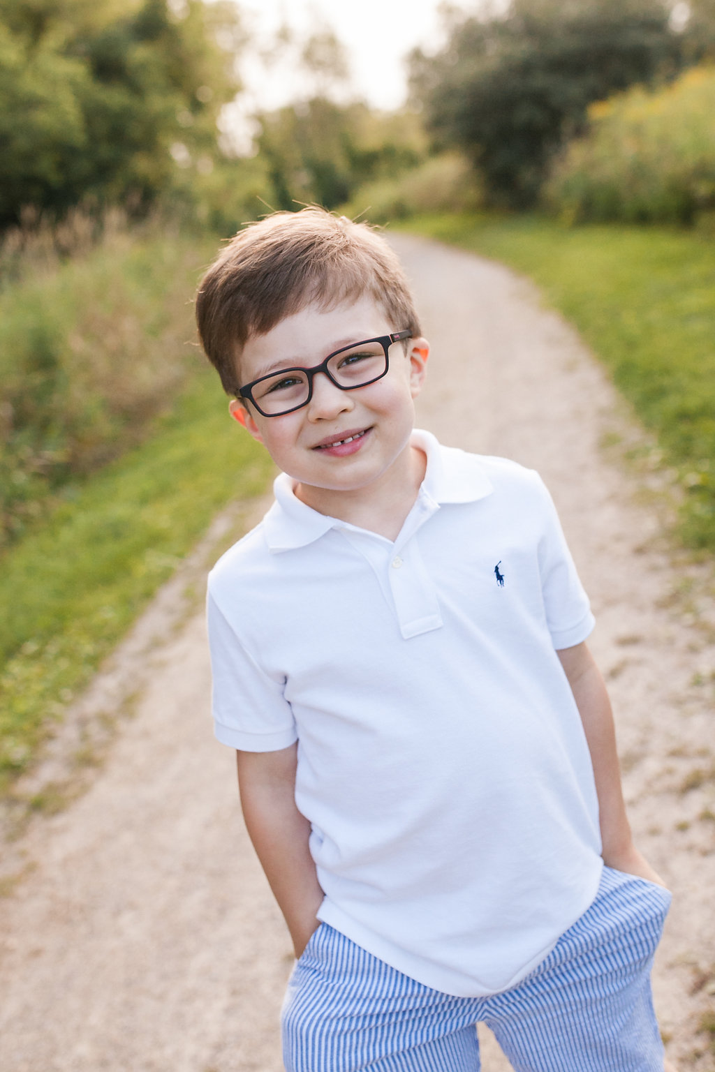 Boy with glasses - Rochester Michigan child photographer