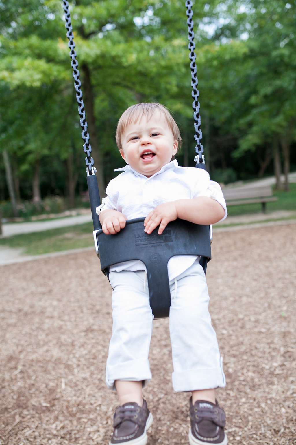 Toddler swinging at the park - Oakland Township
