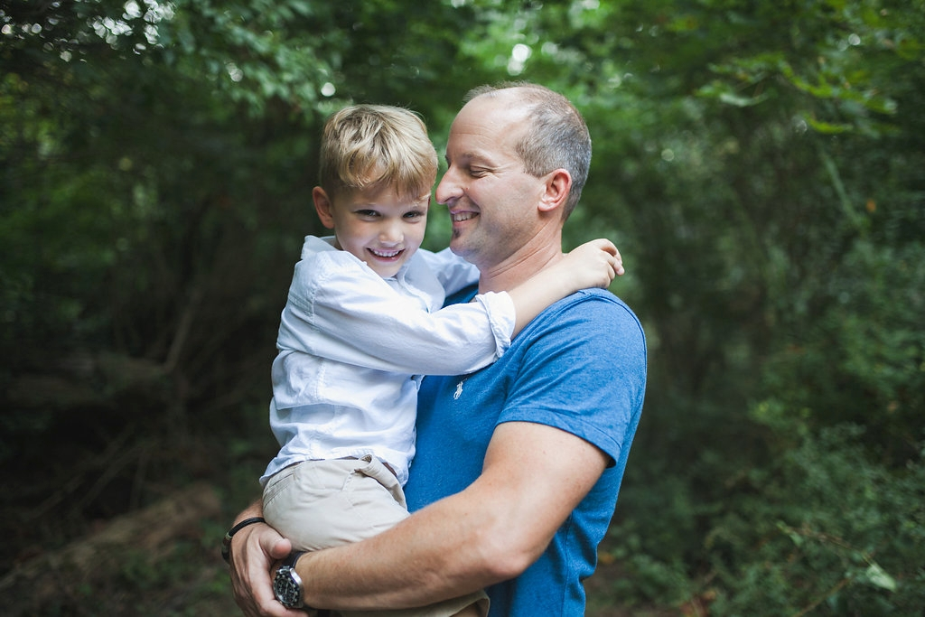 Dad and Son moment Rochester Michigan photographer