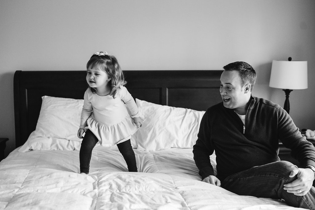Candid family photography in your home - Birmingham Michigan
