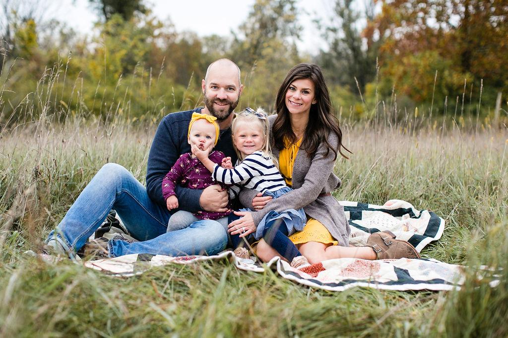funny family portrait michigan