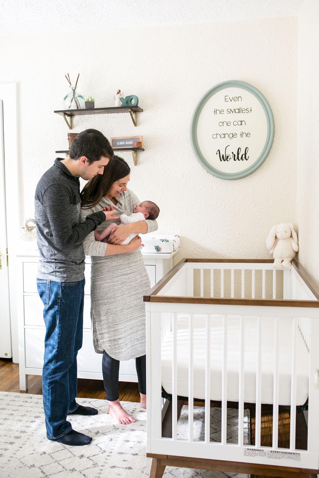 Newborn portrait session in your home