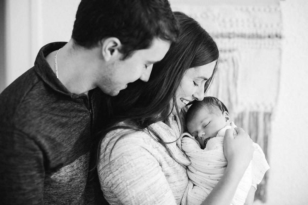 Family of 3 - newborn baby