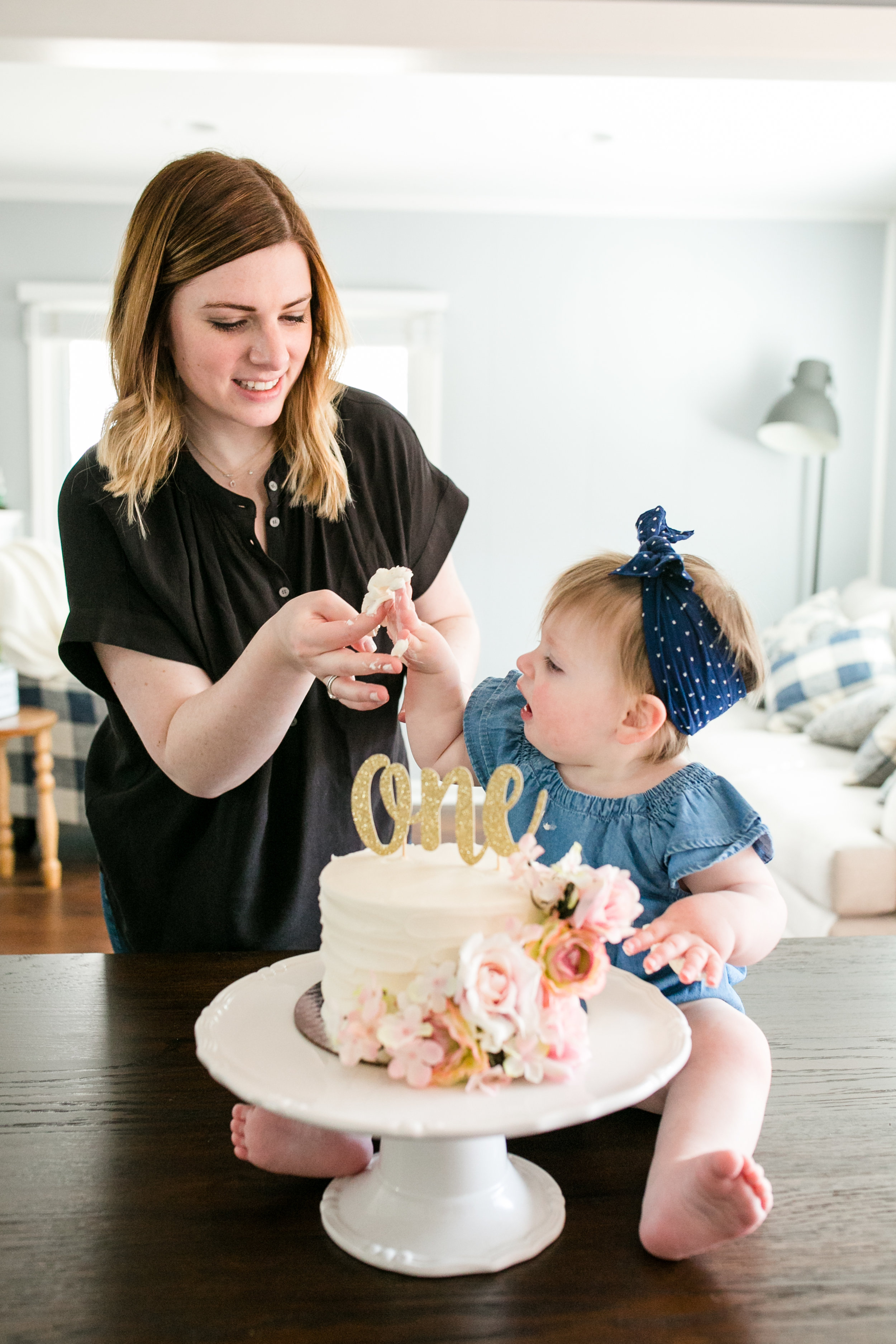 one year cake smash photographer