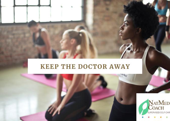 keep the doctor away girls on yoga mats.png