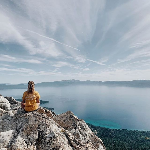 Reaching new heights in #laketahoe. Which peaks are you going to conquer before winter starts?!   Thanks for repping #westshoremarket on your adventures, @sevillasantana!