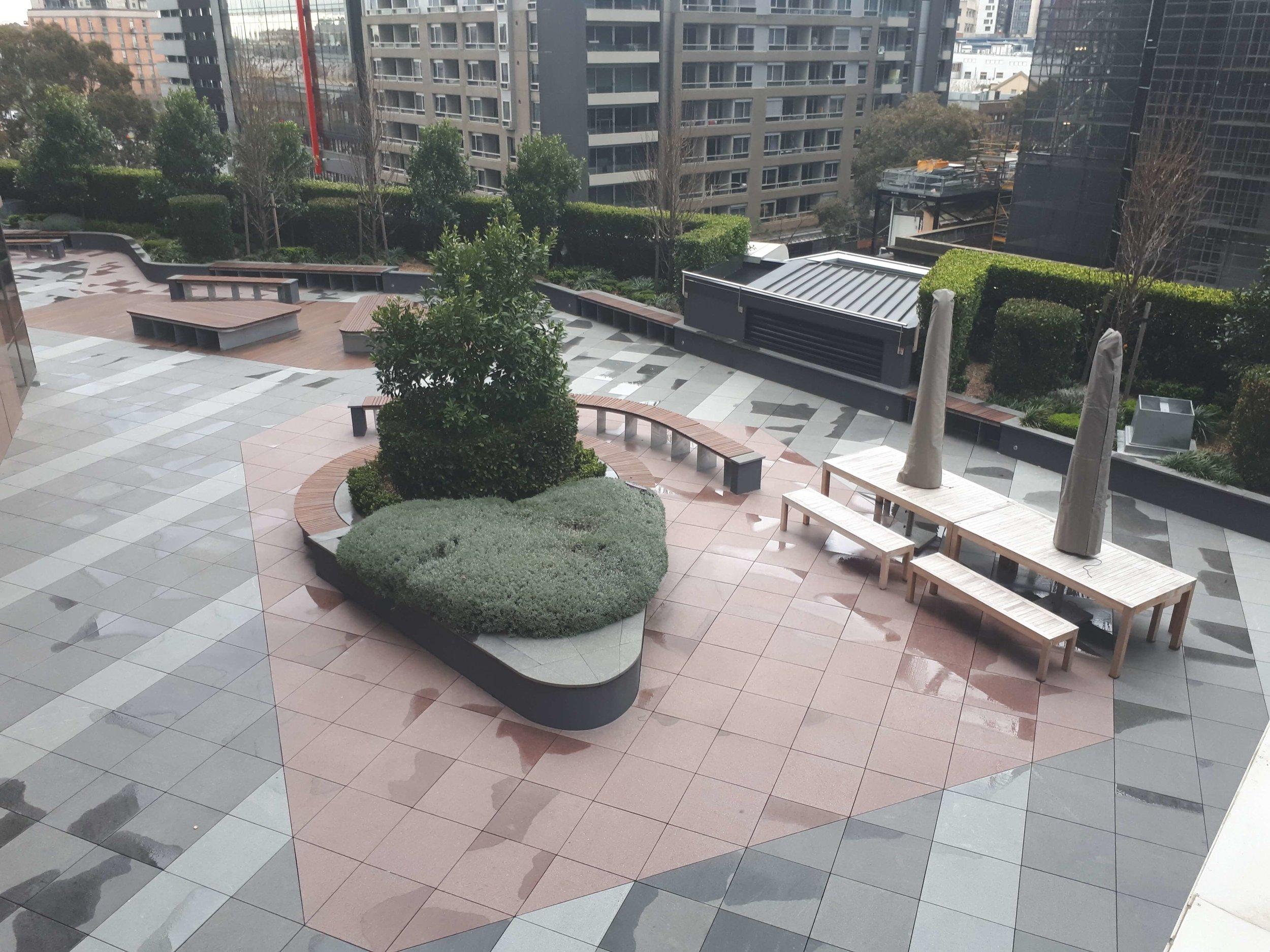 Rooftop garden at 501 Swanston Street
