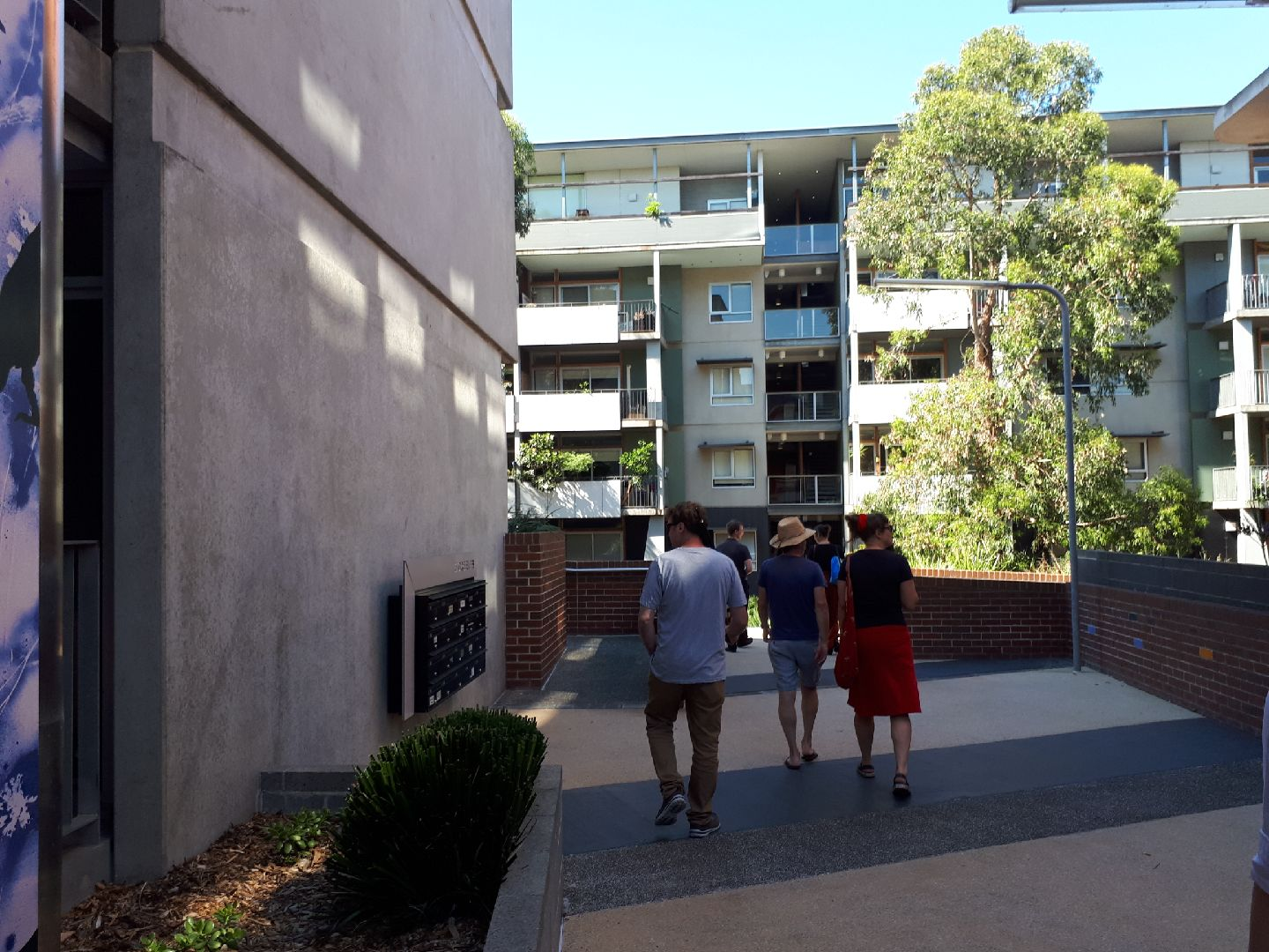 Site tour of Inkerman Oasis, St Kilda.