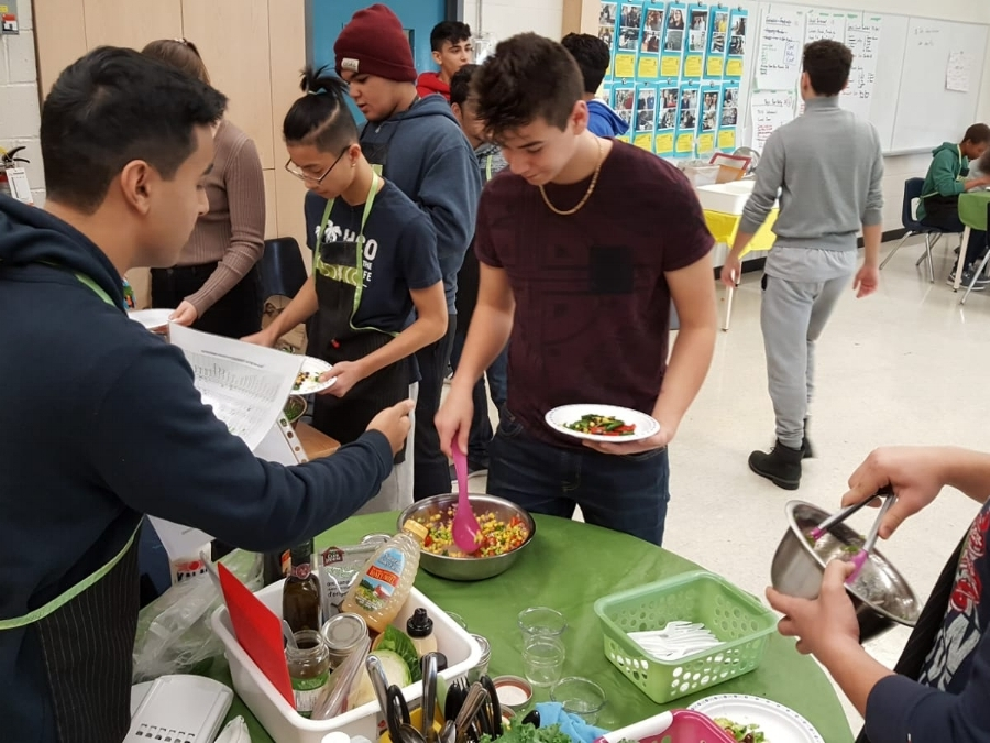 COOKSMART does in-school workshops to teach hands-on cooking skills to teens in the Greater Toronto Area.