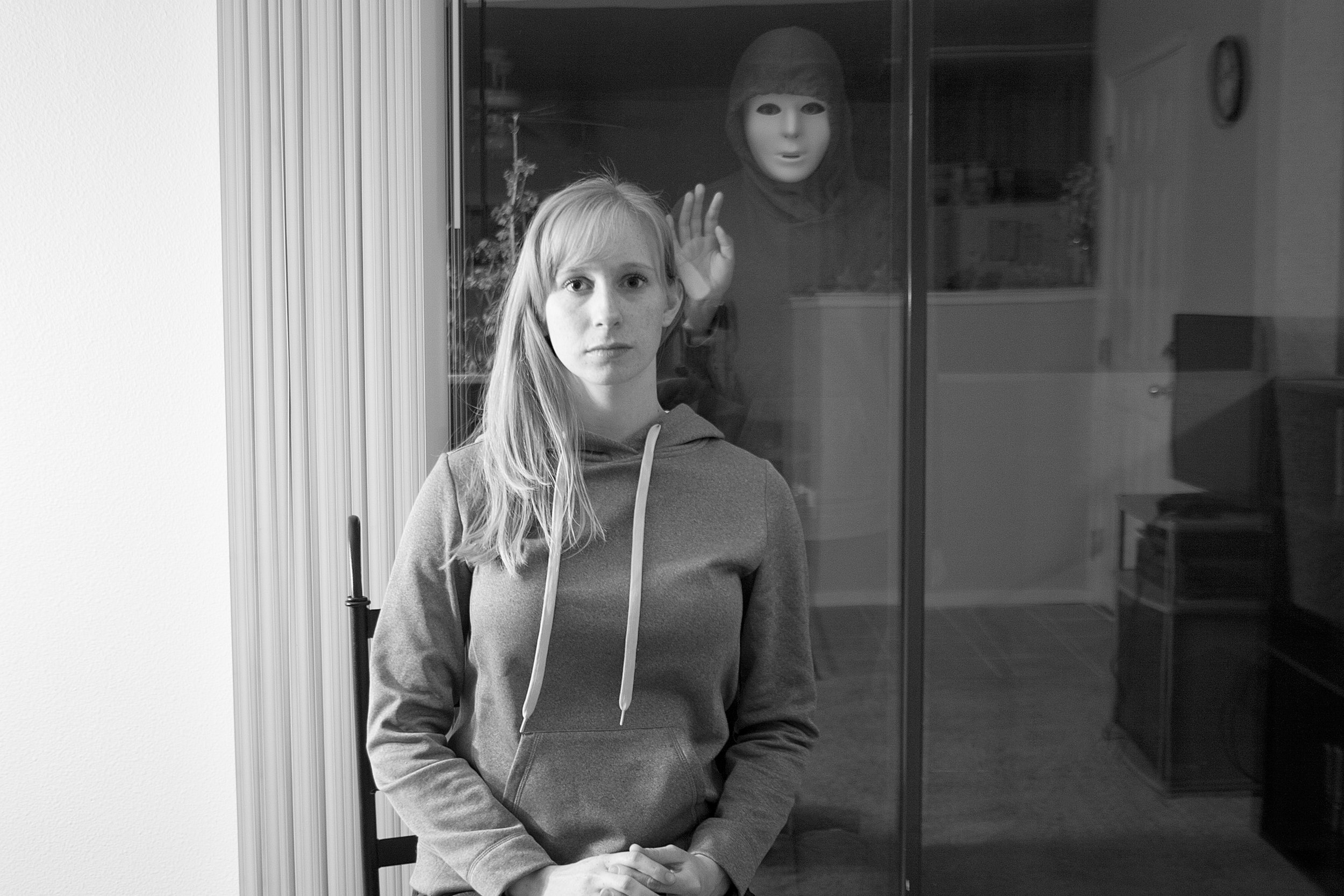 I always feel like there is someone standing outside of my house, looking in the windows, watching, waiting