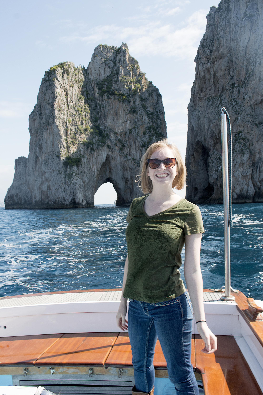 Mychelle in Capri