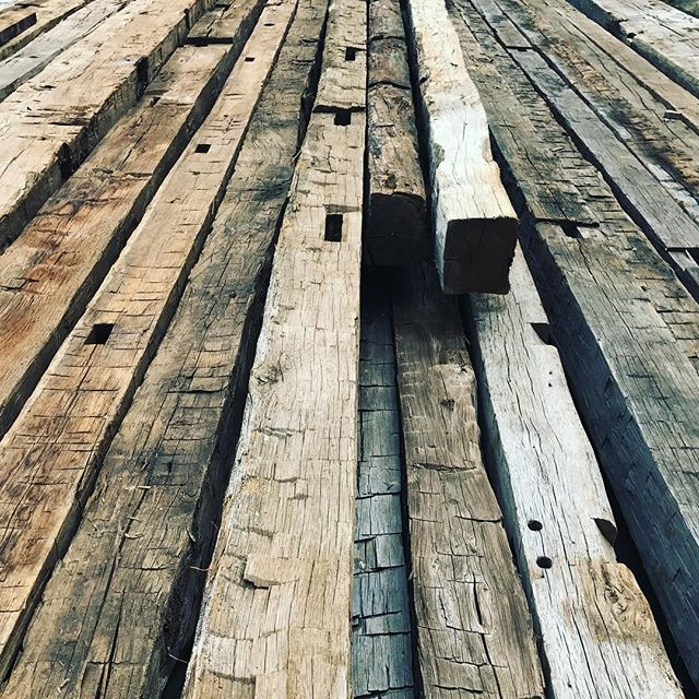 Beams on Beams on Beams!! Come see us, and let us help you realize your perfect Pinterest worthy home!! • • • #copeandstick #reclaimed #repurpose #recycle #upcycle #millwork #metal #steel #art #wood #workflow #design #custom #handmade #supportsmallbusiness #fabrication #fab101 #craftsmen #charlotte #nc #ctl #qc #oak #Vintagelumberyard #handmade #reclaimedwood #beams #designinspo #interiorinspiration