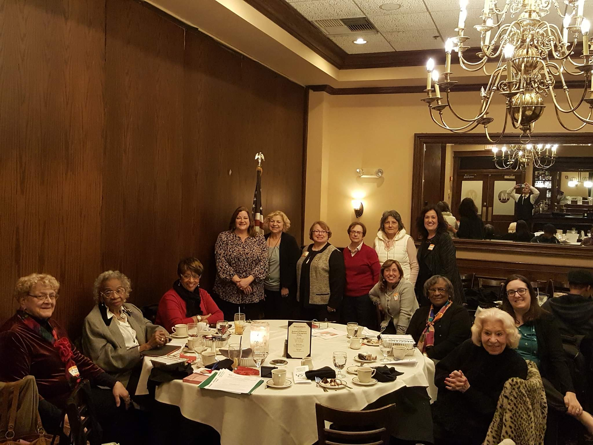 Central Montgomery County Business and Professional Women interpreted their state theme of passion and purpose with two speakers at their January meeting. ( standing from left) President Becky Shoulberg hosted Donna Cavanagh from Humor  Outcast.com  and Past BPW PA State President, Nancy Werner. BPW turns 100 years old this year and CMC was chartered in Norristown in 1927.