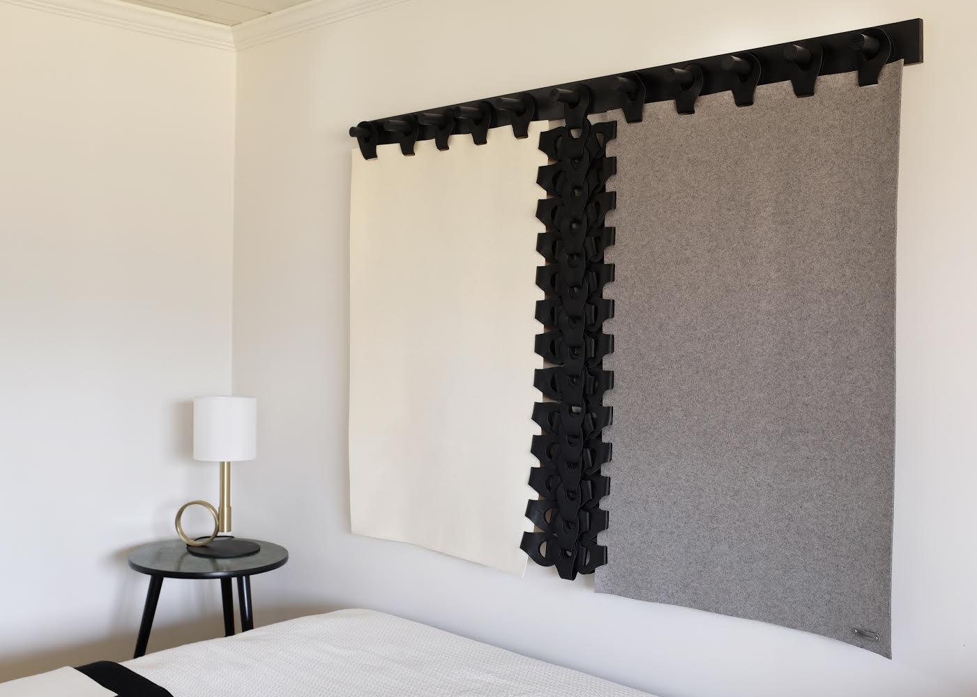Vertebrae Tapestry  In Shades : Megan Pflug Interior Design - The Woodhouse Lodge