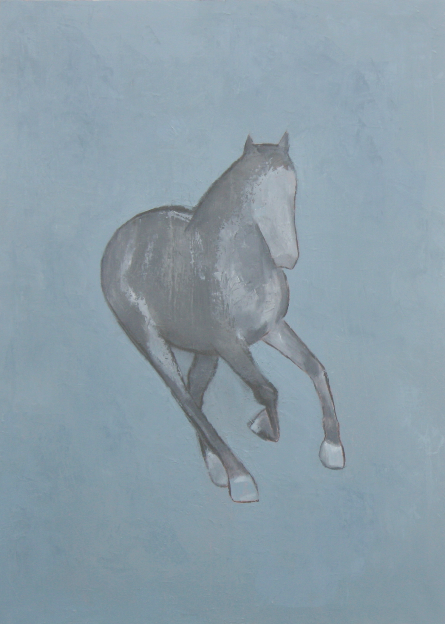 Horse on Blue