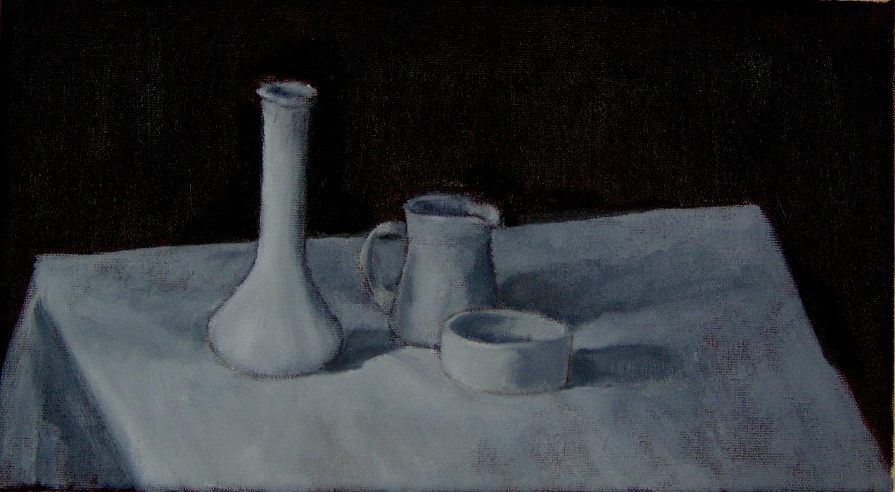 Vase, Creamer and Bowl