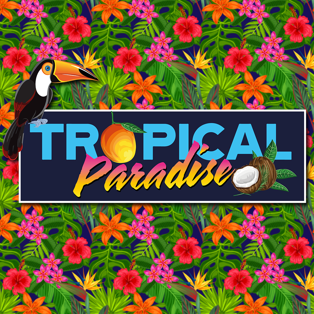 Logo Design of a Tucan and handwitten fonts