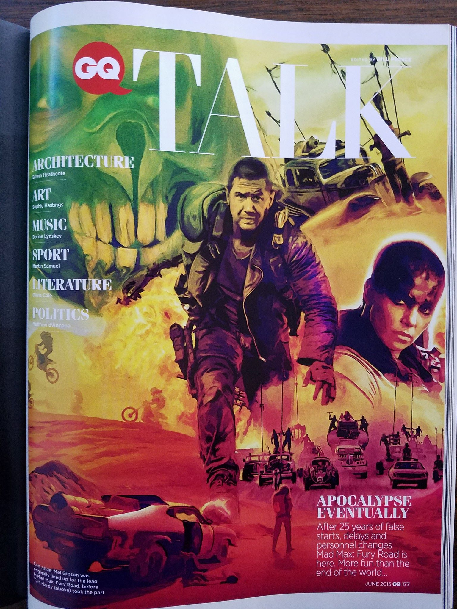 Mad Max Poster Design published in GQ Magazine