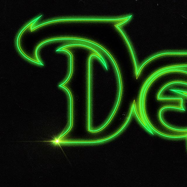 #logodesign created for @deadlifecorps with the help of the super talented @gearduran and @duchess_of_deco. New album available on @newretrowave. #synthwave #newretrowave #logotype #typographydesign #finalfantasy #80saesthetic